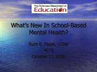 What's New In School-Based Mental Health? - ADE Special Education