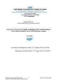 SOFTWARE TECHNOLOGY PARKS OF INDIA ... - STPI Rourkela