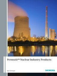 Permutit™ Nuclear Industry Products - Siemens