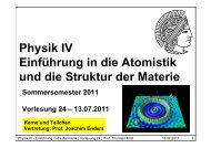 24. Vorlesung - Institut für Kernphysik