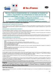 Notice formulaire demande paiement - DRIAAF Ile-de-France