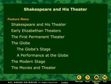 essay shakespeare and his theater
