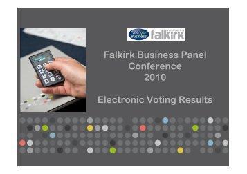 Falkirk Business Panel Conference 2010 survey results (PDF, 1.2MB)