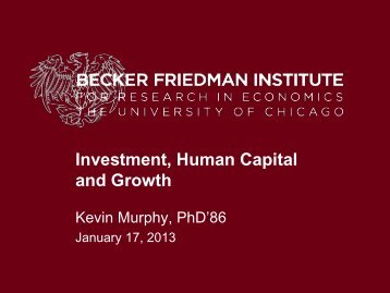 Investment, Human Capital, and Growth