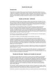 Estudio de Mercado Introducción Estudio de Mercado - Definición ...