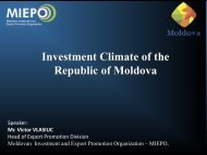 Investment Climate Of The Republic Of Moldova - miepo