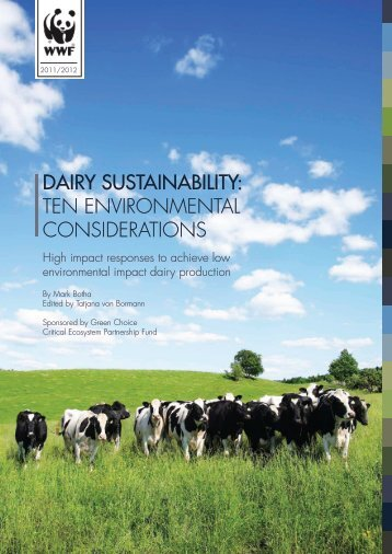 DAIRY SUSTAINABILITY: Ten environmenTal ... - WWF South Africa