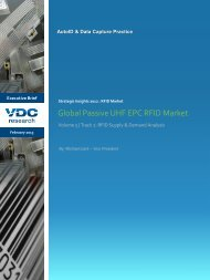 2012 Strategic Insights: RFID Market – Track 2 ... - VDC Research