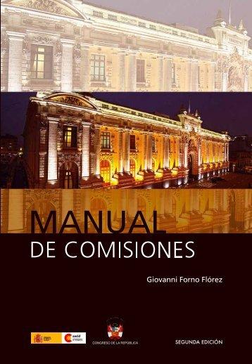 Manual de Comisiones - Congreso de la República del Perú