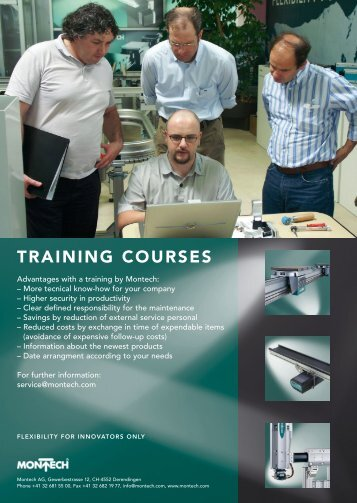 TRAINING COURSES - montratec AG