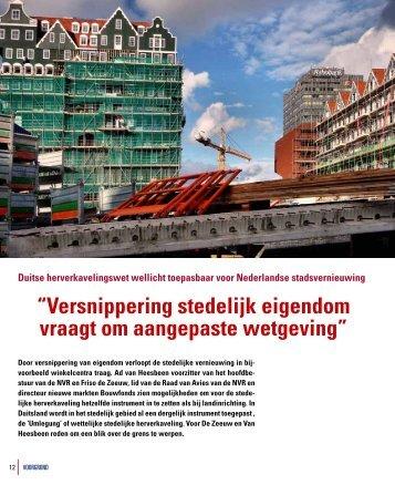 """""""Versnippering stedelijk eigendom vraagt om aangepaste wetgeving"""""""