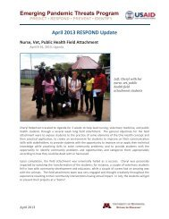 RESPOND East Congo Weekly Report - University of Minnesota ...