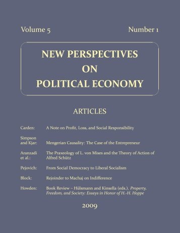 Volume 5, Number 1 - PCPE—Prague Conference on Political ...