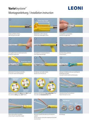 Montageanleitung - LEONI Infrastructure & Datacom