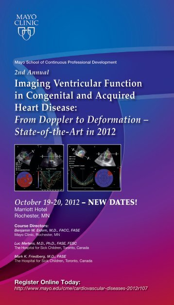 October 19-20, 2012 - Mayo Clinic