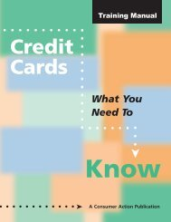 Credit Cards - Consumer Action