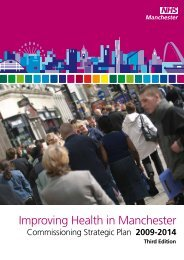 Improving Health in Manchester, Commissioning Strategic Plan 2009