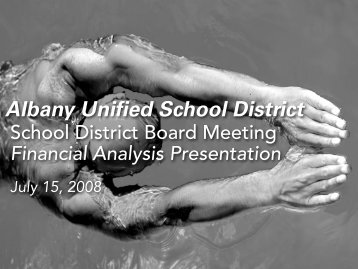 AlbanySchlBrdRpt71508 - Albany Unified School District