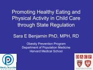 Promoting Healthy Eating and Physical Activity in Child ... - Nemours