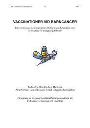 VACCINATIONER VID BARNCANCER - BLF