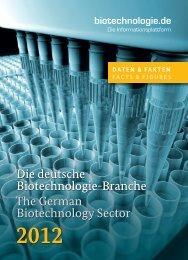 Die deutsche Biotechnologie-Branche 2012 - BIO Deutschland