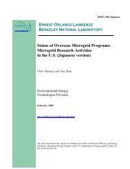 Status of Overseas Microgrid Programs - Lawrence Berkeley ...