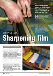 Sharpening Tools issue 154 - Marc Fish