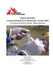 Dossier de presse - Médecins Sans Frontières