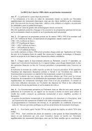 Loi 88-12 du 5 janvier 1988 relative au patrimoine ... - Vie publique