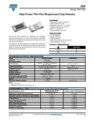 High Power Thin Film Wraparound Chip Resistor PHP