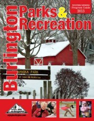Winter/spring 2013 - Burlington Parks and Recreation