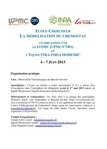 Informations et modalités d'inscription - Observatoire Océanologique ...