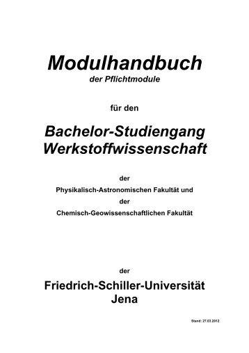 Modulhandbuch der Pflichtmodule