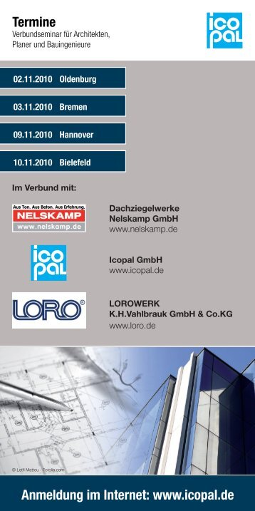 Verbundseminar für Architekten, Planer und ... - Icopal GmbH
