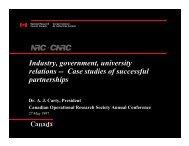 Industry, government, university relations -- Case studies of ... - IEEE