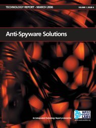 Anti-Spyware Solutions - West Coast Labs