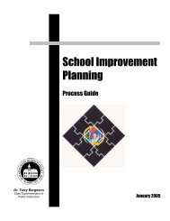School Improvement Planning Process Guide - Woodring College of ...