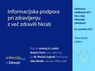 Informacijska podpora pri zdravljenju z več zdravili ... - Ordinacija.net