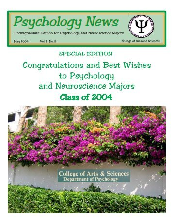 UAS Nwsltr May 04edit.pmd - University of Miami, Psychology