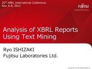 BIDA3. Analysis of XBRL Reports Using Text Mining, Ryo Ishizaki ...