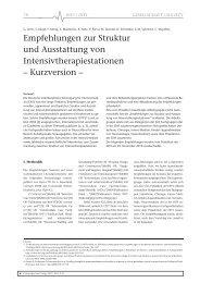 Empfehlungen zur Struktur und Ausstattung von ... - DIVI
