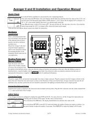 Avenger Installation and Operation Manual - Racepak Data Systems