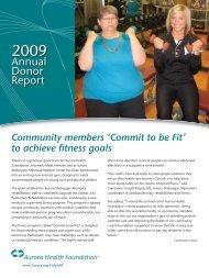 Annual Donor Report - Aurora Health Care