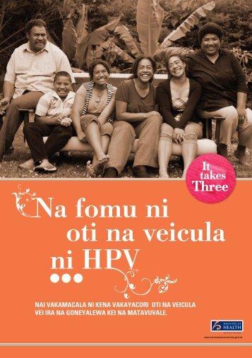 Na fomu ni oti na veicula ni HPV - HealthEd