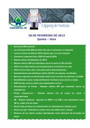 28 DE FEVEREIRO DE 2013 Quinta – feira - Sindimetal/PR