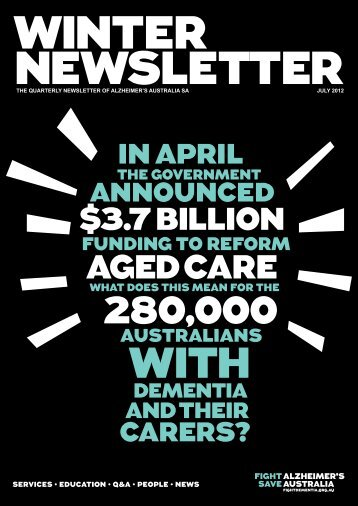 Newsletter July 2012 - Alzheimer's Australia