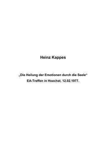 T-0193 - Heilung der Emotionen durch die Seele - Heinz Kappes