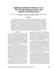 Fighting Institutional Memory Loss: The Trackle Integrated ... - Usenix