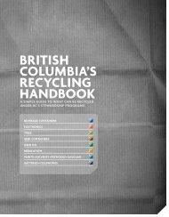 British ColumBiA's reCyCling hAndBook - Tire Stewardship BC