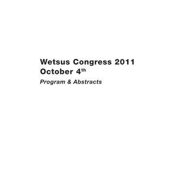 Wetsus Congress 2011 October 4th